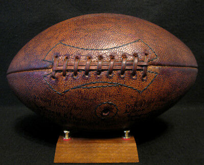 RARE Old Antique Early 1930's DRAPER MAYNARD 9 Lace Leather Football Vintage