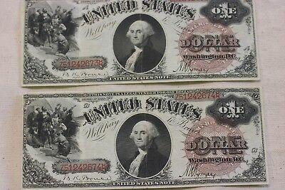 1880 $1 Legal Tender Note red serial Number consecutive set (RARE)