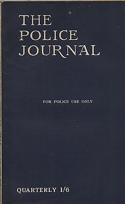 THE POLICE JOURNAL (April/June 1942) - CHESTERFIELD AXE CRIME - BROWN HOUSE MOTH