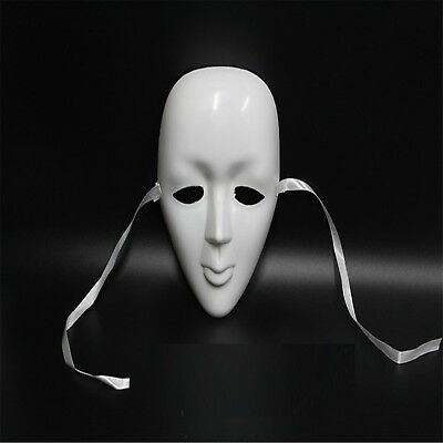 10Pcs DIY White Face Masks Party Favor