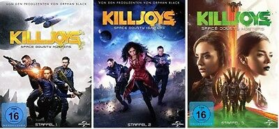 9 DVDs * KILLJOYS - SPACE BOUNTY HUNTERS - STAFFEL 1+2+3 IM SET # NEU OVP &
