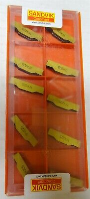 Sandvik 10 Pc CoroCut 2-Edge Carbide Turning Insert N123J2-000-0004-TF-4225