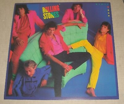 The ROLLING STONES DIRTY WORK DOUBLE SIDED PROMOTIONAL FLAT Hi GRADE condition