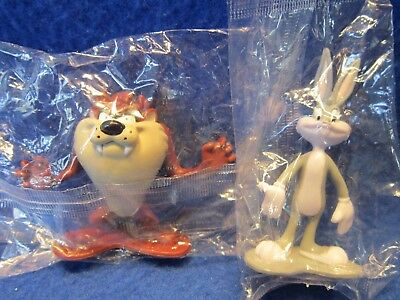 Bugs Bunny & Tasmanian Devil Warner Bros. Toy Figurines Plastic Cake Topper 1997