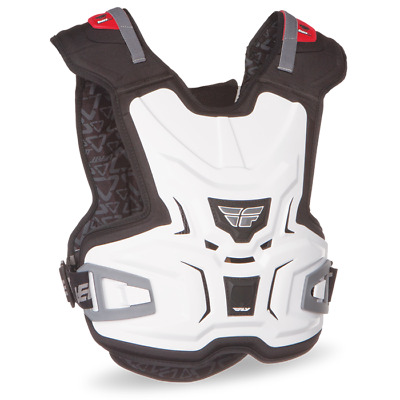 Fly Racing Youth Lite Body Chest Protector Vest White Small/Medium