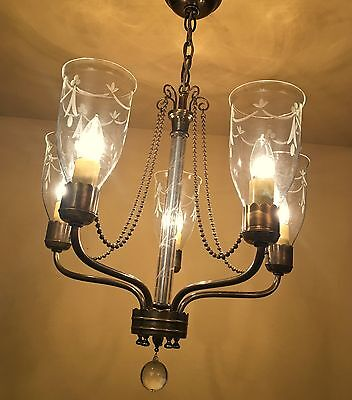Vintage Lighting extraordinary 1940s chandelier by Lightolier