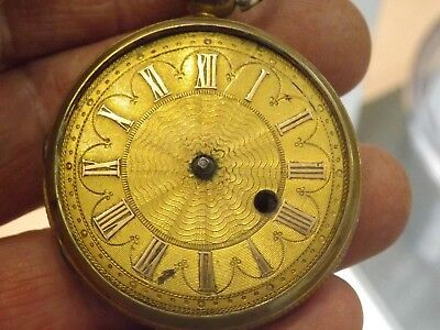 Quality Antique Fusee Verge Pocket Watch Cases Empty