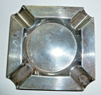 ART DECO SOLID SILVER ASHTRAY CHESTER 58.9grms