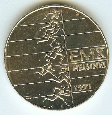 Finland 1971-Sh 10 Markkaa Km#52, Euro Athletic Championships Gem++ Unc Pl