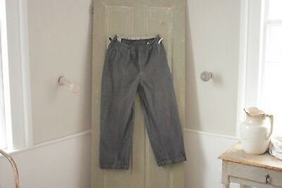 Vintage antique French Workwear pants Chore  pants trousers 32 waist 1920's