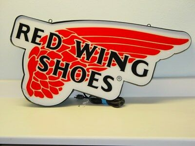 """Red Wing Shoes Lighted Sign, Hanging, Works, Larger 35.5"""" X 21.5"""""""