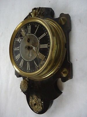 Antique Possible French Revival Wall Clock. Spares Or Repair