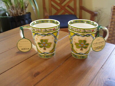 The Irish Shamrock Mugs, set of 2, from Clara Crafts