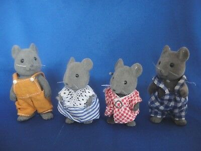 Sylvanian Families Thistlethorn Grey Mouse Character Figures
