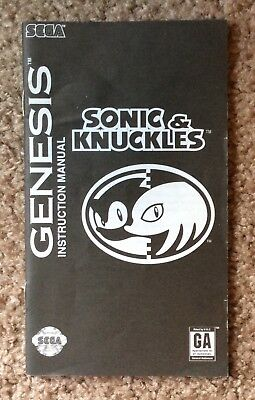 Please Read Only Instruction Manual for Sonic and Knuckles (Sega Genesis, 1997)