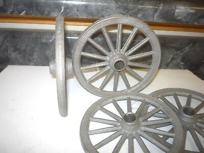 4  New Cast Iron Toy Wagon Cannon Garden Cart Wheel Wheelbarrow