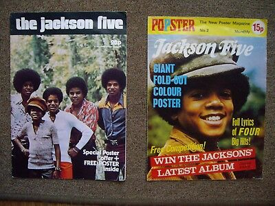 1970's THE JACKSON FIVE / MICHAEL JACKSON POP MAGAZINES: 1972 & 1973: POSTER....