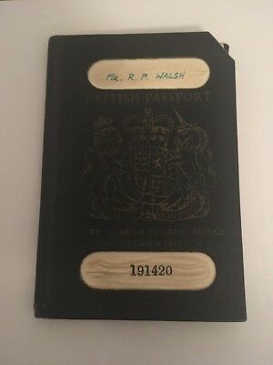 British Passport 1965 Collectable Cancelled With Travel Stamps
