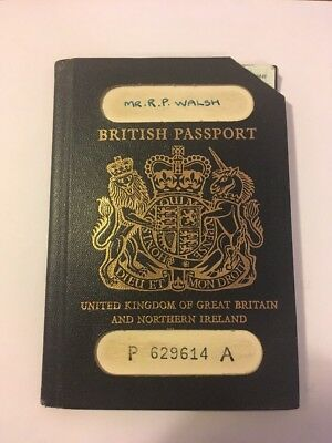 British Passport Peterborough 1975 Collectable Cancelled With Travel Stamps