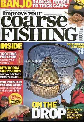 Improve Your Coarse Fishing November 2011 issue 252 Silverfish Trotting for Chub