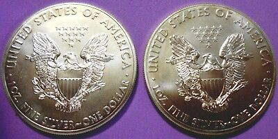 Two Beautiful 2011 Silver Eagles: .999 Silver  ** Three Day Auction ** Lot-Se105