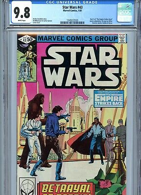 Star Wars #43 CGC 9.8 White Pages Empire Strikes Back Marvel Comics 1981