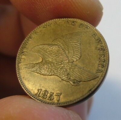 1857 Flying Eagle Cent AU+ (215)
