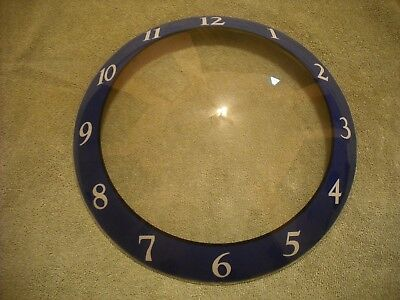 Bubble Clock Glass Cover Only Gas Oil Soda Auto For Pam Style Light Up Sign