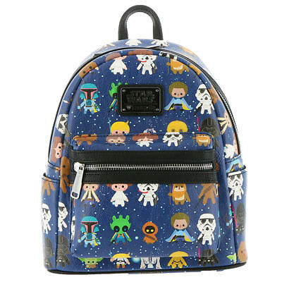 Loungefly Star Wars Character Mini Backpack Navy/Multi