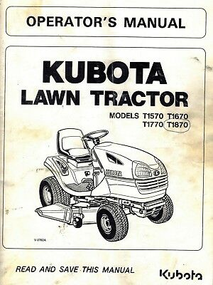 Superb Kubota T1570 T1670 T1770 T1870 Lawn Garden Tractor Flat Rate Wiring Cloud Hisonuggs Outletorg