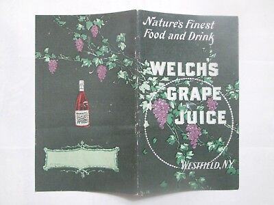 1901 era WELCH'S GRAPE JUICE Booklet, Westfield NY Advertising