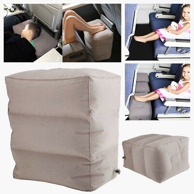 3 Layer Plane Train Travel Inflatable Foot Rest Portable Pad Footrest Pillow