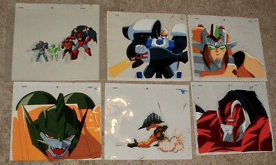 Transformers Beast Wars Animation Cel Lot of 6  From Japan