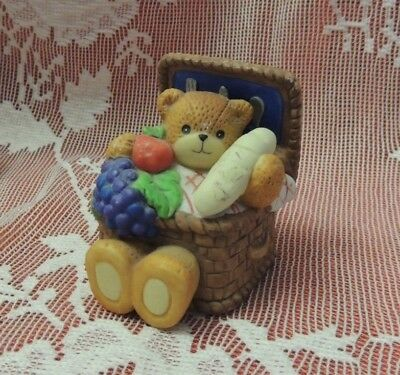 Lucy and Me ~ Basket Ready for Picnic ~ Porcelain Figurine