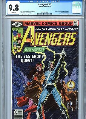 Avengers #185 CGC 9.8 Origin Quicksilver & Scarlet Witch Marvel Comics 1979