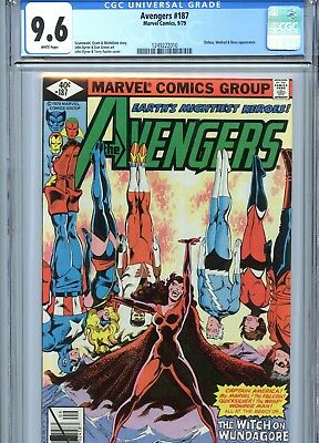 Avengers #187 CGC 9.6 Byrne Cover & Art Marvel Comics 1979