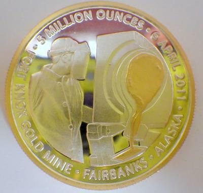2011 Fort Knox Gold Mine Fairbanks Alaska Challenge Coin SILVER 1 Toz Medallion