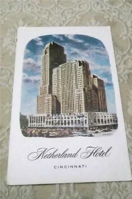 Vintage Antique Postcard ~ The Netherland Plaza Hotel Cincinnati Ohio ~ Art Deco