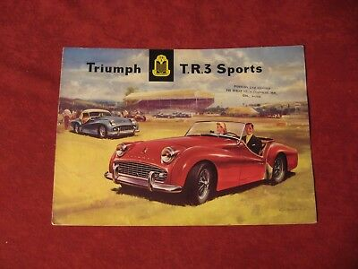 1957 Triumph Sports Car Original Showroom Dealership Brochure Salesman Old
