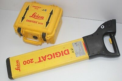 LEICA DIGICAT 200 Cable Avoidance Tool System pipe locator + 8/33 Transmitter