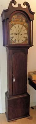 8 day mahogany longcase clock