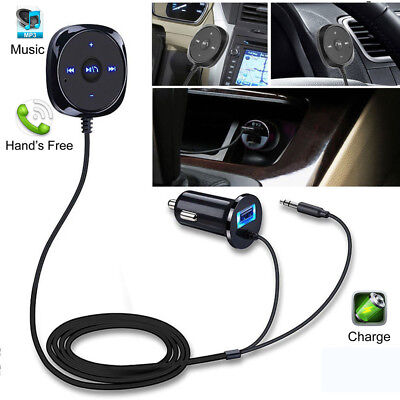 Bluetooth Car Kit Auto Radio A2DP KFZ Adapter FM Transmitter AUX Mp3 Player USB