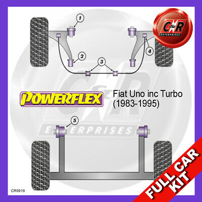 Fiat Uno Inkl. Turbo (1983-1995) Powerflex Komplett Bush Set