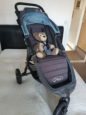 Baby Jogger City Mini GT Pram Pushchair Stroller - Teal/Grey with Accessories