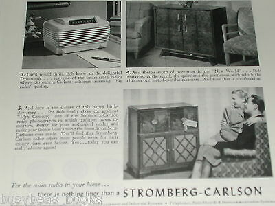 1946 Stromberg Carlson Radio advertisement, consoles and table-top radios