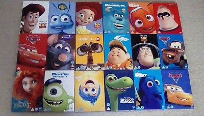 Disney Pixar DVDs with limited edition Artwork O Ring Sleeves. New and sealed.
