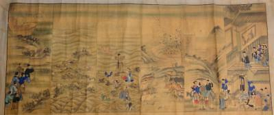 Antique Chinese Christian Missionary School Education Wall Scroll Chart Picture