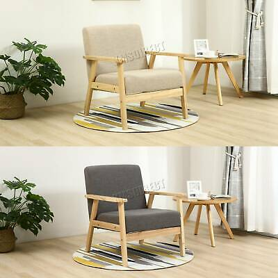 WestWood Retro Single Fabric Armchair Seat Chair Accent Recliner Sofa Wood 2085