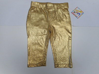 Baby girls leggings Baby clothes Gold Toddler Silver Jeggings Jeans 0-3 mo to 5T