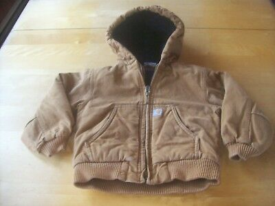 Carhartt hooded cotton jacket - toddler size 3T